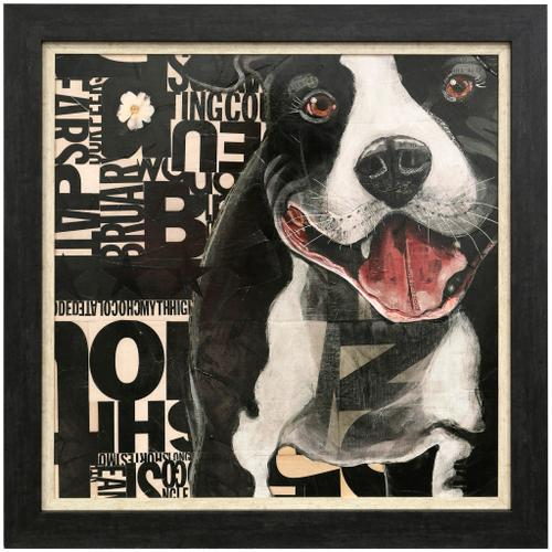 Style Craft - PIT PAT  36in w X 36in ht  Textured Framed Print  Made in USA
