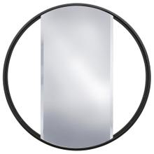 EBONY METAL MIRROR  24in w. X 24in ht. X 1in d.  Metal Frame Window Panel Wall Miror