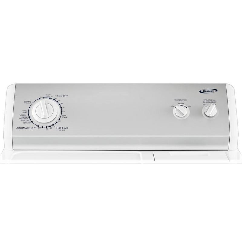 Crosley - Crosley Hamper Door Dryer Electric/gas Dryer - Electric Dryer - White