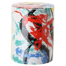 Kes Multicolor Garden Stool - Multi