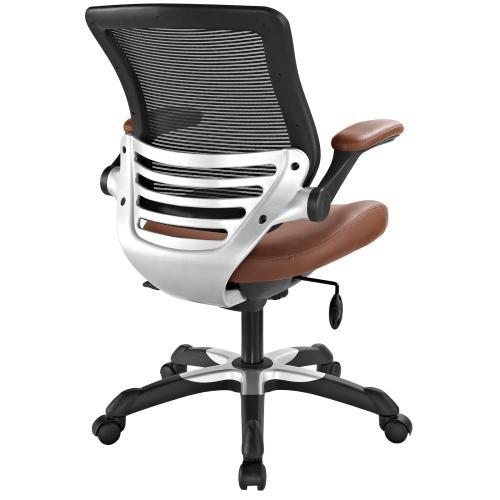 Edge Vinyl Office Chair in Tan
