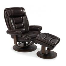 Hunter Leather Chair & Ottoman