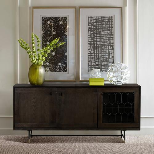 Gatsby Oak and Metal Buffet Cabinet