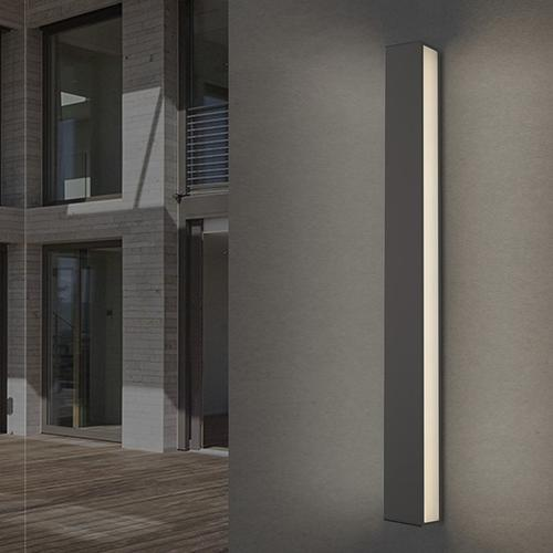 """Sonneman - A Way of Light - Sideways LED Sconce [Size=24"""", Color/Finish=Textured Gray]"""