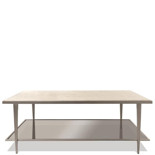 Wilshire - Rectangular Coffee Table - White Sands Finish