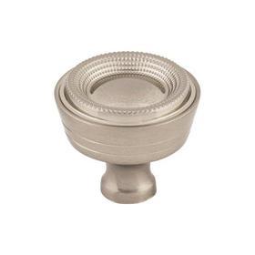 Beaded Knob 1 5/16 Inch Brushed Satin Nickel