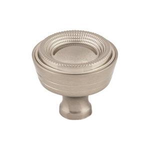 Top Knobs - Beaded Knob 1 5/16 Inch Brushed Satin Nickel