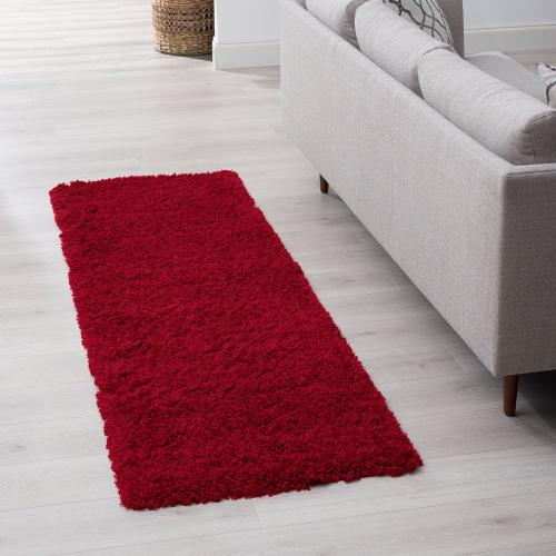Jersey Shag - JRS1006 Red Rug