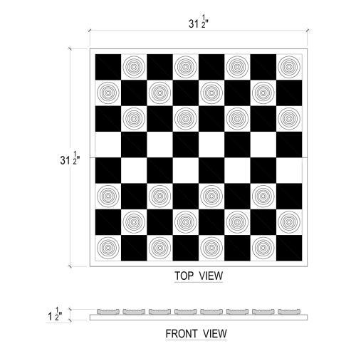 Oldtimers Checker Set w/ Board
