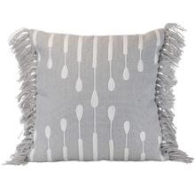 See Details - 18x18 Hand Woven Okena Pillow Gray