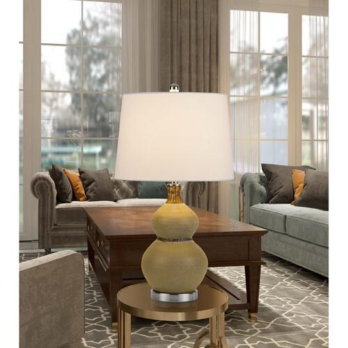 150W Sion Ceramic Table Lamp With Taper Drum Linen Hardback Shade (Priced And Sold As Pairs)