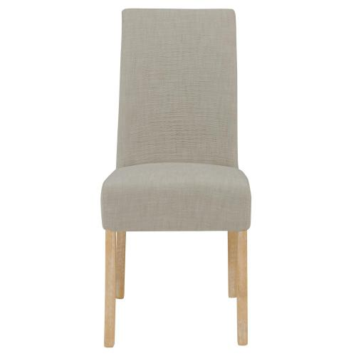 Valencia Fabric Dining Side Chair NWO Legs, Putty