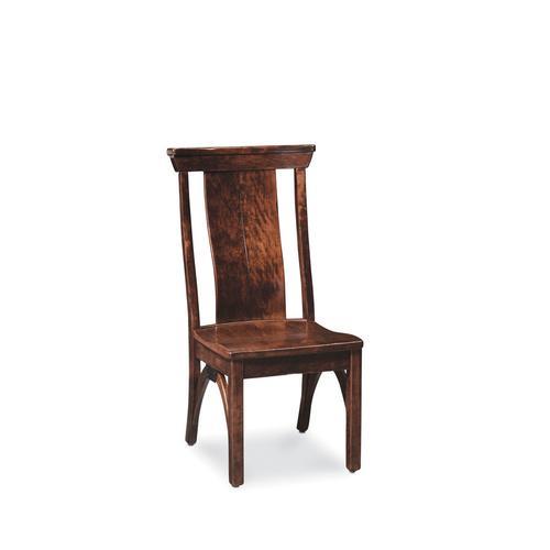 B&O Railroade Trestle Bridge Side Chair, Wood Seat