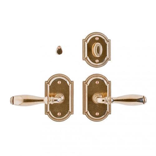 "Rocky Mountain Hardware - Ellis Privacy Set - 3"" x 5"" White Bronze Brushed"
