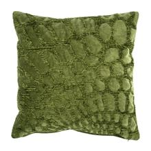 "Alden 20"" Square Embroidered Pillow, Green"