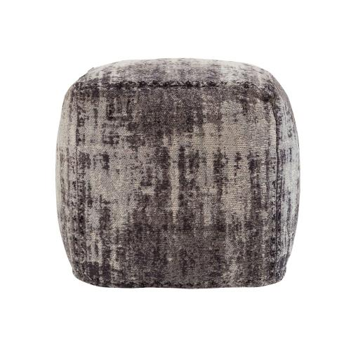 Tov Furniture - Chenille Cotton Jacquard Pouf
