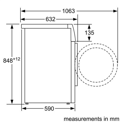 Compact Washer 24'' 1400 rpm WAT28400UC