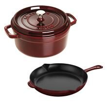 Staub Cast Iron 3-pc, Mixed set, Grenadine