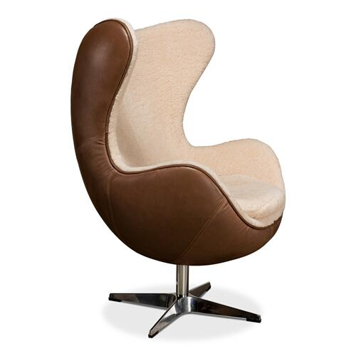 Jacobean Mid 20th Century Egg Chair
