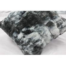"""See Details - Nuevo Faux Fur Pillow Tie-Dye Charcoal by Rug Factory Plus - 20"""" x 20"""" / Tie-Dye Charcoal"""