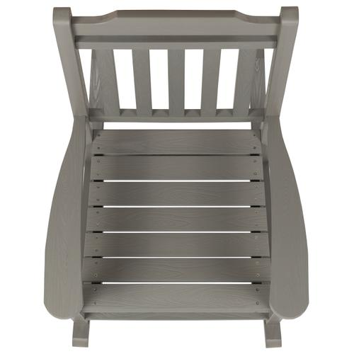 Flash Furniture - Winston All-Weather Poly Resin Rocking Chair in Gray