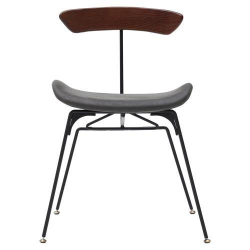 Wolfgang KD Fabric Chair Frosted Black Legs, Nox Black