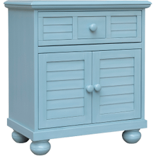 Beachfront Blue Two Door Nightstand