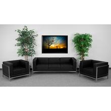 HERCULES Imagination Series Black LeatherSoft Sofa & Chair Set
