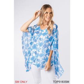Sedona Flutter Sleeve Top - S/M (4 pc. ppk.)