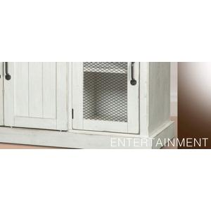 Sunny Designs - TV Console with Barn Doors White