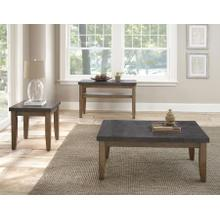 Debby 3-Piece Stone Top Set(Cocktail & 2 End Tables)