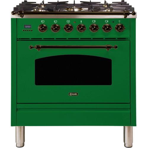 30 Inch Emerald Green Dual Fuel Natural Gas Freestanding Range