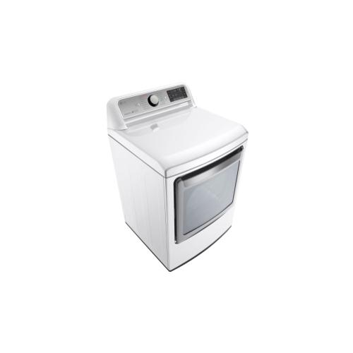 LG - 7.3 cu. ft. Ultra Large Capacity TurboSteam™ Electric Dryer with EasyLoad™ Door