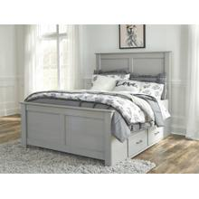 Arcella Full Panel Bed With Storage Gray