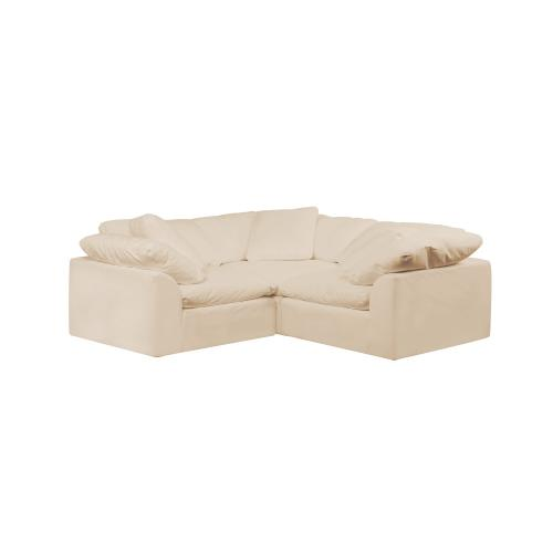 Cloud Puff Slipcovered Modular Sectional Small L Shaped Sofa - 391084 (3 Piece)