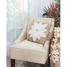 """Home for the Holiday L1317 White 17"""" X 17"""" Throw Pillow"""