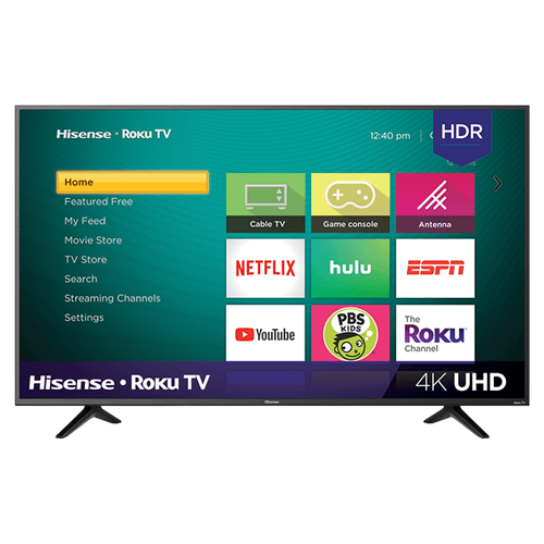 """43"""" Class - R7 Series - 4K UHD Hisense Roku TV with HDR (2018) SUPPORT"""