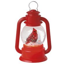 Lighted LED Cardinal Lantern Mini Shimmer