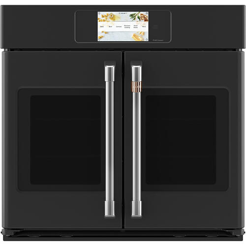 "Café 30"" Built-In French-Door Single Convection Wall Oven Matte Black"