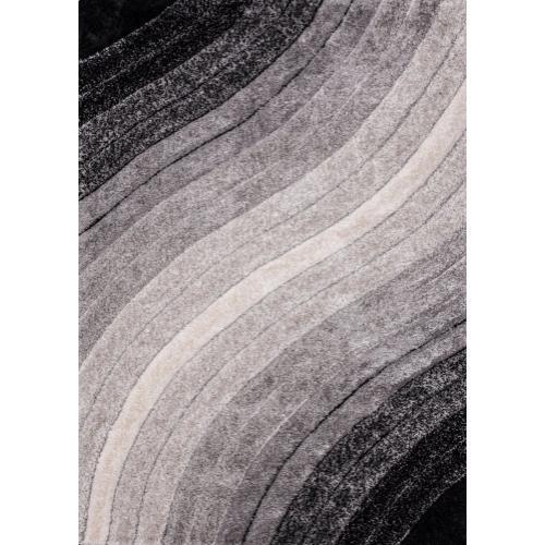 "Sorrento 726 Shag Area Rug by Rug Factory Plus - 5'4"" x 7'3 / Silver"