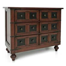 CLASSIC APOTHOCARY  35in X 42in  Traditional Wood 3 Drawer Chest with Turned Legs