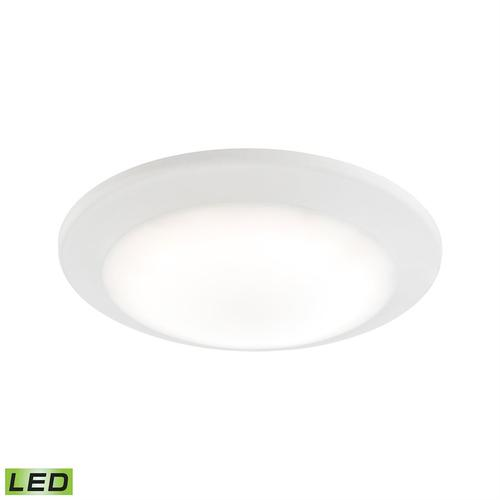 Plandome 1-Light Recessed Light in Clean White with Glass Diffuser