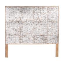 (LS) Tahoe Coco Headboard Queen-White Patina (63x2x60)