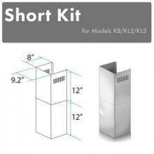 """ZLINE 2-12"""" Short Chimney Pieces for 7 ft. to 8 ft. Ceilings (SK-KB/KL2/KL3)"""
