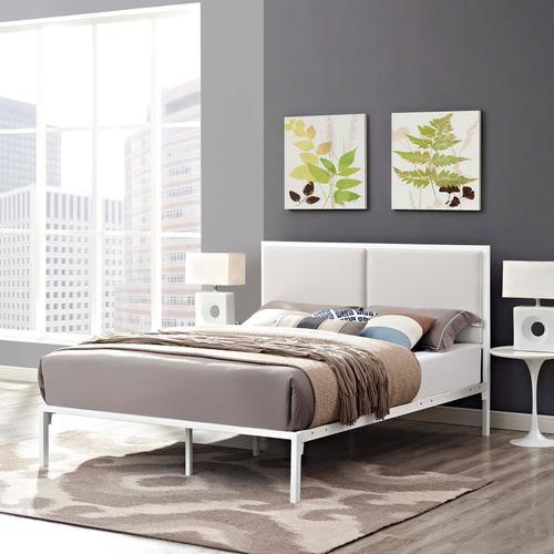 Modway - Della King Vinyl Bed in White White