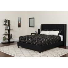 See Details - Riverdale Twin Size Tufted Upholstered Platform Bed in Black Fabric with Pocket Spring Mattress