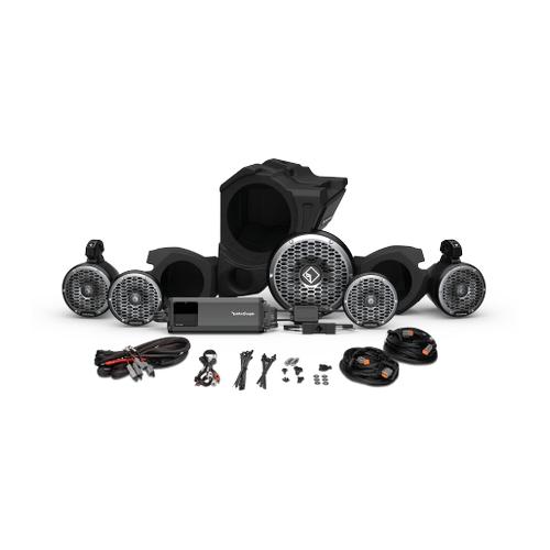 Rockford Fosgate - Ride Command® 3-Way Interface, 1500 watt, Front Color Optix™ Speaker, Subwoofer & Rear Speaker Kit for Select Polaris® RZR® Models (Gen-3)