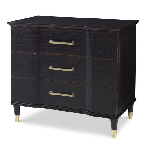 Valmont Nightstand - Rubbed Raven