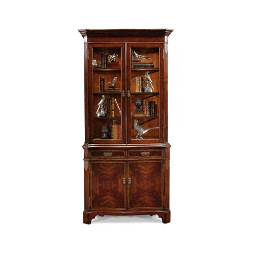 Serpentine Mahogany China Cabinet