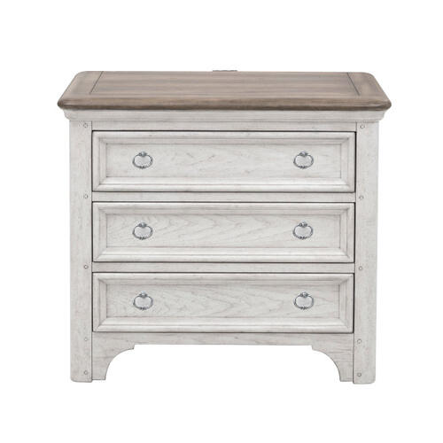 Glendale Estates 3 Drawer USB Charging Nightstand